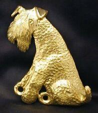 Kerry Blue Terrier Hook in Bronze
