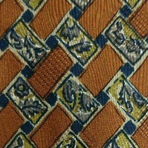 Brown Gray Foulard ZEGNA Silk Tie