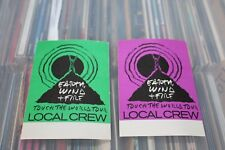 EWF Earth Wind & Fire   - 2 x Backstage Pass -   - Free Postage