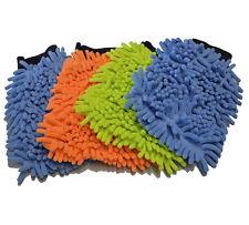 4 Stück Microfaser Mikrofaser Handschuh Waschhandschuh Autowaschhandschuh