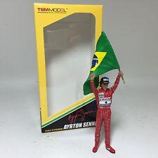 1/18 TSM Figure F1 Ayrton Senna Figure Raising Flag Brazilian GP 1991 TSM12AC16