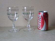 Vintage Irish Coffee Liqueur Glasses Green Shamrock Logo
