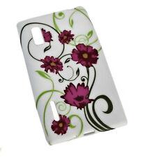 Design No.4 Silikon TPU Cover Case  + Displayschutzfolie für LG E610 Optimus L5