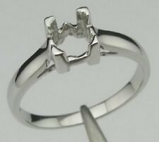 Free Shipping 6.0x6.0mm Round Shape 925 Sterling Silver Semi Mount Ring Jewelry