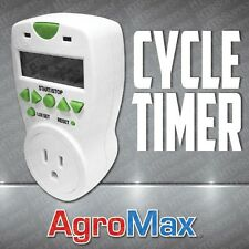 10-SECOND TO 99-HR DIGITAL CYCLE TIMER HYDROPONIC CONTROLLER W/ DAY/NIGHT SENSOR