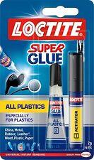 LOCTITE SUPER GLUE soprattutto per tutte le plastiche ADESIVE & PRIMER TUBO 0981
