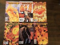 Human Torch Comic Lot, BURN Run Parts #1-6 Marvel Comics Direct Edition