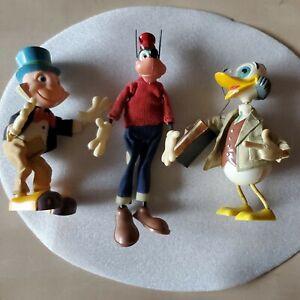 Vintage Disney Toy Lot Goofy Jiminy Cricket Professor Ludwig Von Drake  Soldier