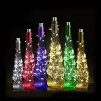10er 15er 20er LEDs Lichterkette Draht Micro warmweiß, AA batteriebetrieben