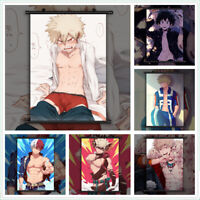 Boku no My Hero Academia Bakugou Shoto Midoriya Anime Art Scroll Home Decoration