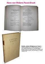 Goethe Faust 1 Hyperionverlag Weber 1912 Pergament signiert Carl Sonntag 1/550