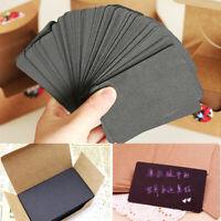 100X Blank Kraft Paper Hang Tags Wedding Party Favor Cards Price ~. Gift La Z9J2
