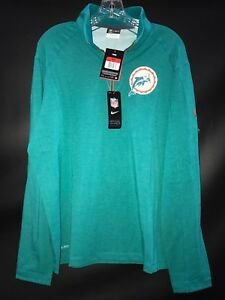 MIAMI DOLPHINS TEAM ISSUED THROWBACK 1/4 ZIPPER DRI-FIT TURTLE NECK LONG SLEEVE