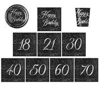 GLITZ FOIL TABLEWARE Decorations - Party/Ranges/18,21,30,40,40,50,60,70