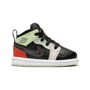 """Toddlers Nike Air Jordan 1 Mid SE """"Glow in the Dark"""" AV5172 076"""