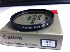 Genuine Canon 52mm UV HAZE Lens Glass Protector Filter  52 mm OEM Original Japan