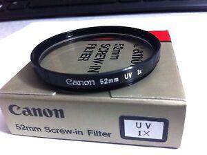 Genuine Canon 52mm UV HAZE Lens Glass Protector Filter  52 mm OEM Original Japan
