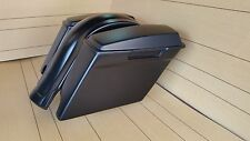 "4"" STRETCHED SADDLEBAGS FOR HARLEY DAVIDSON WITH REAR FENDER AND LIDS INCLUDED"