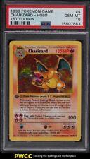 1999 Pokemon Base Set 1st Edition Shadowless Holo Charizard #4 PSA 10 GEM MINT