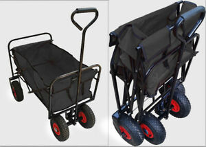 Faltbarer Transportwagen ✅ Luftbereifung ✅ Bollerwagen Klappwagen Handwagen Neu