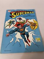 Superman 3 Stories to Color 1981 Whitman Coloring Book  Partially Used