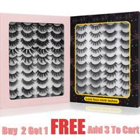 8/20Pairs Natural 3D False Lashes Fake Eyelashes Fluffy Soft Wispy Reusable