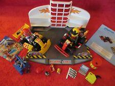 Jouet Jeux Playmobil Voiture de Course Formule 1  avec Stand de voiture Nº 6869