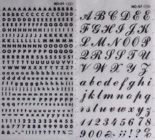 Dry Press Transfers Graphic Lettering Rub-on Sticker Sheets Craft Art Design #01 - 4mm 1 Sheet