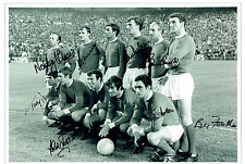 1968 Manchester United 8 Signed 16x12 Autograph European Cup Photo AFTAL COA