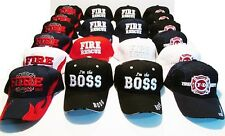 FIRE DEPARTMENT HAT LOT-20 NEW FD-BOSS HATS-WHOLESALE UNISEX BASEBALL CAPS
