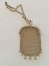 Antique Silver Sterling Mesh Purse Signed Miniature Hand Bag