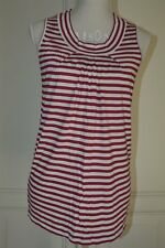 Canotta a righe bianca e rossa MAX&CO white and red striped tank top S