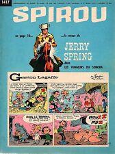 ▬► Spirou Hebdo - n°1417 du 10 Juin 1965 - SANS mini-récit TBE