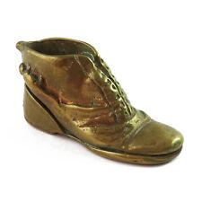 Vintage Miniature Solid Brass Figure Shoe/Boot Ornament
