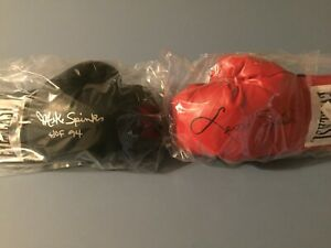 Michael Spinks W / HOF 94 & Leon Spinks Autographed Boxing Glove's - Schwartz