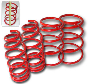 Suspension Lowering Spring Drop GLE/GXE Red Fits 1995-1999 Nissan Maxima A32