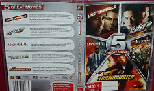5 DVD Unstoppable,Speed,Man on Fire,The A Team,Transporter - BRAND New