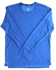 Nike Mens Dri Fit Athletic Running Crew Neck Long Sleeve Shirt 502900 449