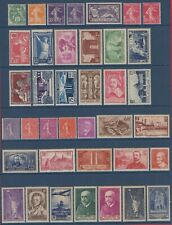 A VOIR ! TB lot timbres Avant-Guerre neufs *, cote: 516,40 € !