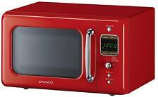 Microwave Oven Retro Vintage Kitchen Cooking 0.7 Cu 700W Daewoo RED Countertop