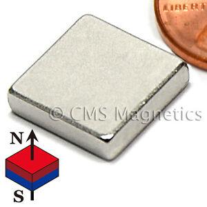 "CMS Magnetics® 1000 pieces Neodymium Magnets N45 1/2x1/2x1/8"""