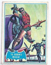 1966 Topps Batman Blue Bat with Bat Cowl Back (11B) To Robin's Rescue