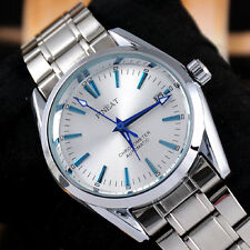 Luxury Gift Men's Automatic Mechanical Stainless Steel Date Calendar Wrist Watch