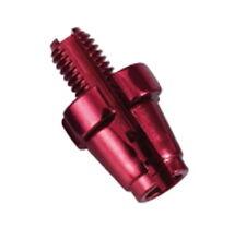 2 Rändelschrauben / Einstellschrauben M7 für Bremse in rot