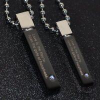Partnerkette Edelstahl LOVE IS THE KEY 2 Partner Anhänger schwarz +2 Kugelketten
