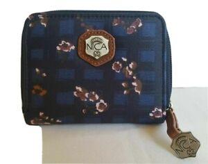NICA Women's Mona Designer Purse,Card Holder,Travel Wallet In Blue Floral, NEW