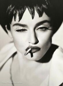1990 Vintage MADONNA Singer By HERB RITTS Wink Smoking Cigarette Photo Art 16x20
