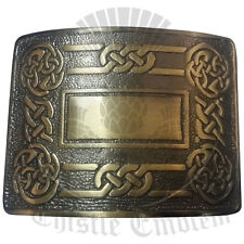 Highland Kilt Belt Buckles Swirl Celtic Antique Finish/Celtic Knot Work Buckles