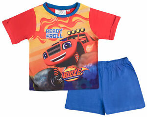 Blaze And The Monster Machines Short Pyjamas Kids Two Piece Shortie Pjs Set