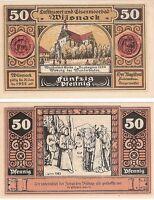 Germany 50 Pfennig 1922 Notgeld Wilsnack UNC Uncirculated Banknote